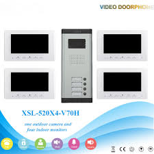 Yobang Security Video Intercom <b>7 Inch LCD Wired</b> Video Doorbell ...