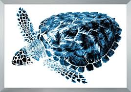 sea turtle wall art the well appointed house luxuries for home set of two indigo tropical sea turtle wall art