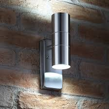 Stainless Steel Up Down Wall Light Auraglow Dusk Till Dawn Sensor Stainless Steel Up Down