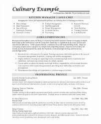 8 Sample Chef Resumes Sample Templates