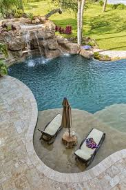 Pool Designs With Waterfalls Aerial View Of A Swimming Two And Design Inspiration