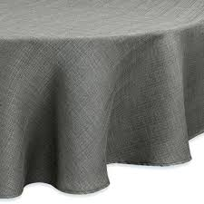 noritakear colorwave 60 inch round tablecloth in slate from bed bath 60 inch round tablecloth tablecloth