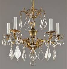 spanish brass crystal chandelier c1950 pertaining to amazing household spanish crystal chandelier ideas