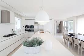 modern home interior design kitchen. Kitchen And White Interior Design In Modern Sea Shell Home W