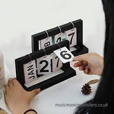innovative desktop wooden perpetual calendar diy desk calendar fun gift for s kids b07fm62d7