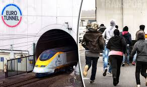 Image result for European migrant crisis in the English channel tunnel