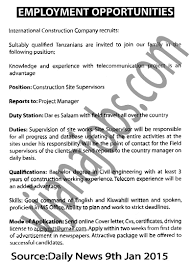 construction site supervisor tayoa employment portal job description