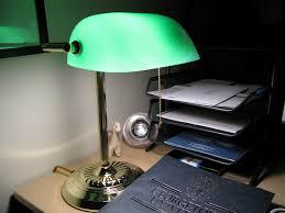 cool green bankers desk lamp