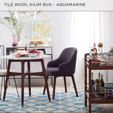 tile wool kilim rug aquamarine handcrafted furniture home decor on carou