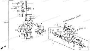 diagram of honda motorcycle parts 1976 ct90 a carburetor k6 77 Honda Motorcycle Shop Manuals at Honda Motorcycle Repair Diagrams