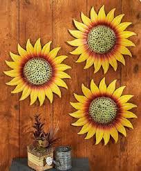 sunflower kitchen decor patio wall art