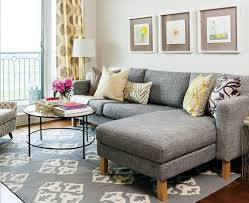 Living Room With Gray Sectional Sofa  Pinterest