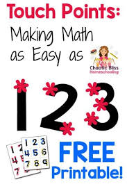 Free Printable Touch Math Chart Touch Points Making Math As Easy As 1 2 3 Free Printable