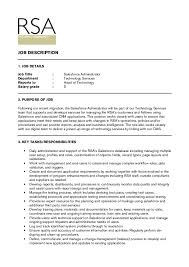 JOB DETAILS Job Title : Salesforce Administrator Department : Technology  Services Reports ...