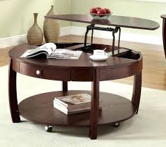 little round table large size of room design coffee table on wheels with storage brown round