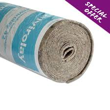 carpet underlay roll. envirolay 42 felt carpet underlay from £1.98 per m2 roll