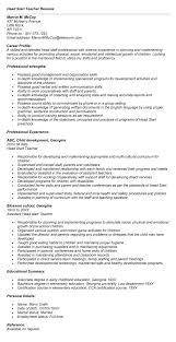 sample resume head start teacher resume in text you - Head Teacher Resume