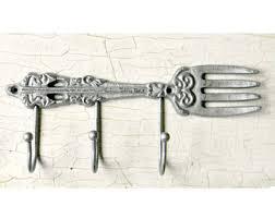 kitchen towel hooks. Wall Hooks, Kitchen Decor, Fork Towel Hooks (