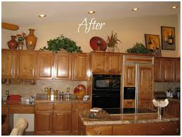 Decorating For Kitchens Decorating Kitchen Cabinet Tops