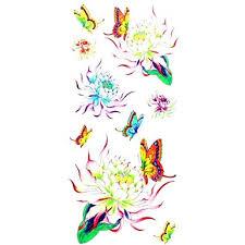 119 1ks Dámské Nepromokavé Dočasné Tetování Noha Ruka Zápěstí Tetování Glitter Motýl Lotus Těla Tetování 185 Cm 85 Cm