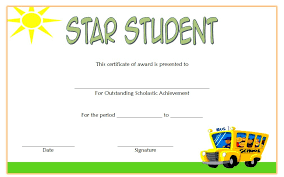 Star Student Certificate Templates | The Best Template Collection