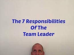 Team Leader Responsibilities Youtube