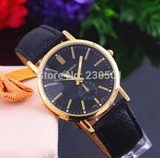 new fashion belt simple business casual geneva brand watches men