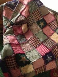 Pin by Mary Luckenbaugh on Rag quilts | Pinterest | Crafts, Baby ... & Homespun and Cotton Rag Quilt Very Large Throw Size Flannel Backed  Beautiful Navy, Hunter and Adamdwight.com
