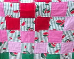 Watermelon quilt | Etsy & Watermelon theme quilt 40