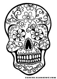 Small Picture Calacas Coloring Pages Skull coloring page jp Adult Color Pages