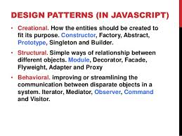 Javascript Design Patterns Stunning Javascript Design Patterns