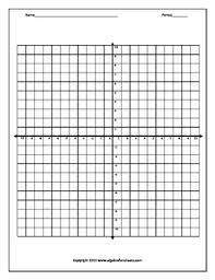 Graph Paper 4 Options By Algebra Funsheets Teachers Pay Teachers