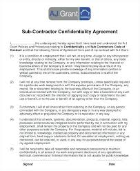 Contractor Confidentiality Agreement Template Image Collections ...