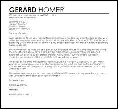 retirement letter of appreciation sample retirement letter to company