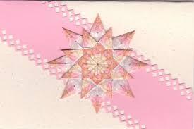 Pink Triple Star Tea Bag Fold Card Details