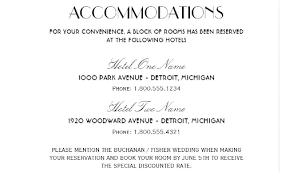 Hotel Accommodations Cards Card Accommodation Template Hotel Business Wedding Cards The Basics