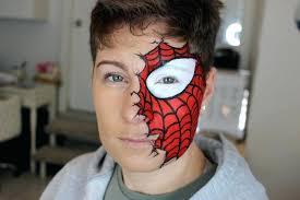 spider man makeup half face makeup look spiderman makeup