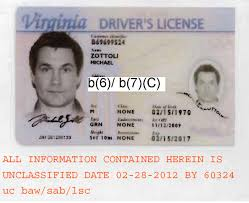 Driver's Michael License Virginia Zottoli's