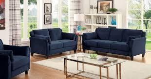fabric sofa set. Furniture Of America CM6716NV-SF CM6716NV-LV CM6716NV-CH Ysabel Contemporary Navy Blue Fabric Sofa Set S