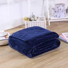 king size plush blanket.  King Navy Blue Color Blanket Birthday Present Winter Warm Plush Blankets For Bed  Throw King Size 200x230cm Machine Washablein From Home  Intended A