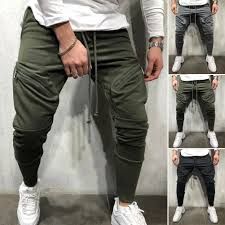 Designer Grey Tracksuit Us 10 51 19 Off Mens Gym New Cotton Casual Designer Pants 2019 New Pockets Slim Tracksuit Bottoms Joggers Jogging Pants M 3xl In Skinny Pants From