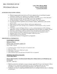 Radiologic Technologist Cover Letter Sample Job And Resume Template