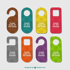 cool door hangers. Hotel Door Hangers Set Free Vector Cool I