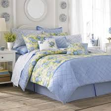 blue and yellow bedding. Simple And Laura Ashley Salisbury Blue U0026amp Yellow Floral Comforter Set Inside And Bedding