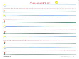 Best Photos Of Pre K Writing Paper Lined Printable