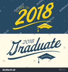 congratulations to graduate class 2018 congratulations graduate typography stock vector
