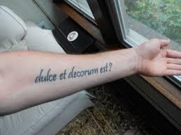 dulce et decorum est bull literary tattoos