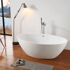 Freistehende Badewanne Destino Acryl Weiß 175x100cm
