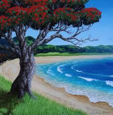 pohutukawa painting work lessons in auckland whangarei and kerikeri