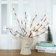 Christmas Branch Lights Twig Amazon Com Jxy Lighted Artificial Flowers Led Simulation
